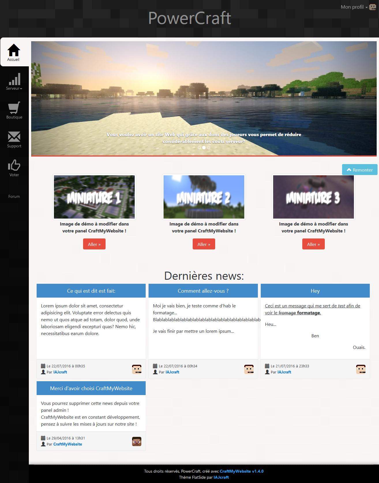 FireShot Screen Capture #003 - 'PowerCraft - Serveur Minecraft Francophone.png